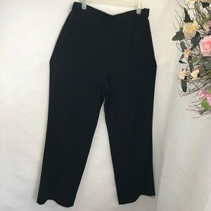 St. John black label straight leg  black pant 10